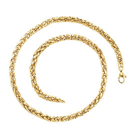 Vicenza Collection Franco Chain Necklace in 9K Gold 22 Inch