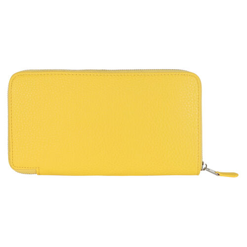 Kris Ana Single Zipper Purse - Yellow