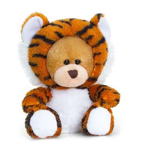 Tan, Black and White Colour Pipp Bear with Onesie Tiger (Size 14 Cm)