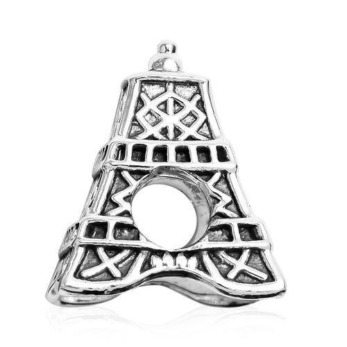 Charmes De Memoire Eiffel Tower Charm in Platinum Plated Sterling Silver 4.14 Grams