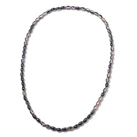 Simulated Mystic Topaz Barrel Beads Necklace (Size 30)