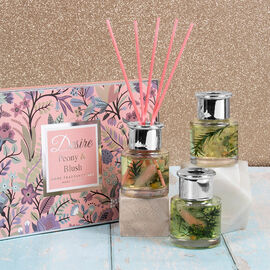 Lesser and Pavey Set of 3 - Peony & Blush Reed Diffuser 150ml