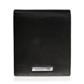 CERRUTI 1881 - 100% Genuine Leather Black Colour Wallet (Size 11x10 Cm)