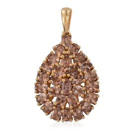 Jenipapo Andalusite (Ovl) Cluster Pendant in 14K Gold Overlay Sterling Silver 4.750 Ct.