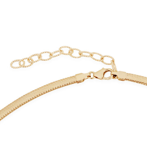 SUPER AUCTION - JCK Vegas Collection - ILIANA 18K Yellow Gold Graduated Omega Necklace (Size 17 with 1.5 inch Extender).Gold Wt 4.50 Gms