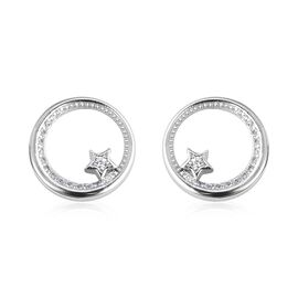 Isabella Liu - Twilight Collection - Natural White Cambodian Zircon (Rnd) Earrings (with Push Back)