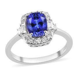 RHAPSODY 950 Platinum AAAA Tanzanite and Diamond Ring 1.75 Ct.