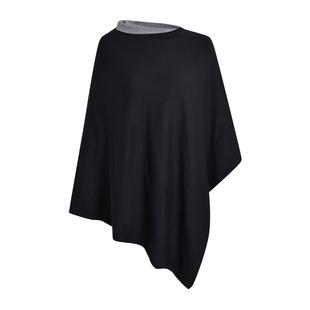 Kris Ana Contrast Black and Grey Poncho (60x75cm)