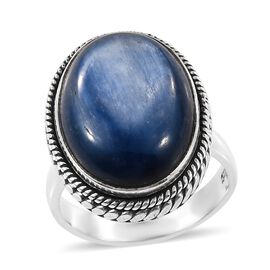Artisan Crafted Moon Kyanite (Ovl) Ring (Size P) in Sterling Silver 12.60 Ct.
