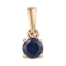 Kanchanaburi Blue Sapphire (Rnd) Pendant in 14K Gold Overlay Sterling Silver 0.500 Ct.