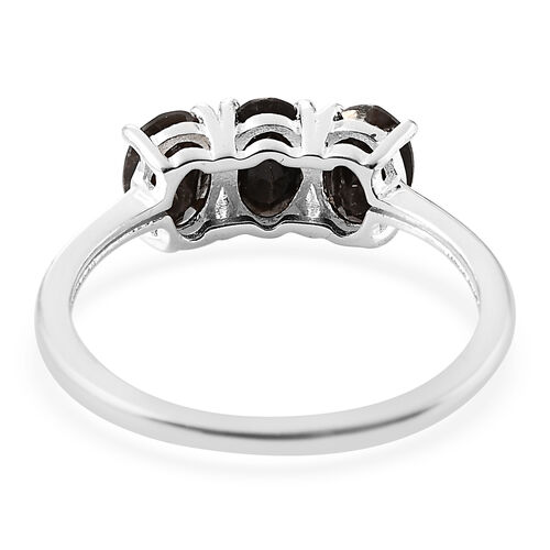 One Time Deal- Silver Saphire Three Stone Ring in Sterling Silver Ring 1.000 Ct.