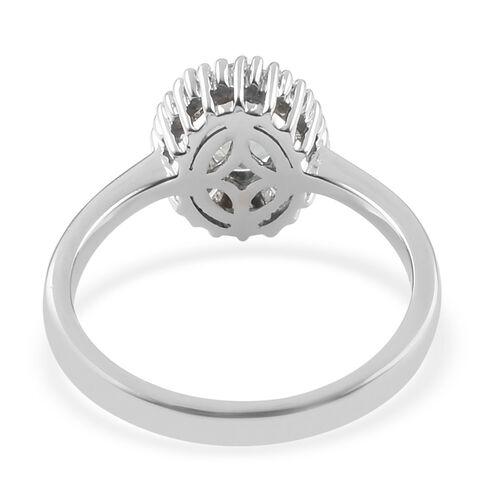 RHAPSODY 950 Platinum AAAA Alexandrite and Diamond (VS/E-F) Ballerina Ring 1.00 Ct.
