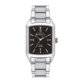 BEN SHERMAN Grey Dial Watch with Stainless Steel Strap