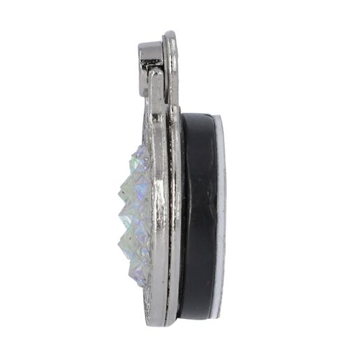 Silver and White Shungite Plate Phone Holder (Size 4x3x1 Cm)