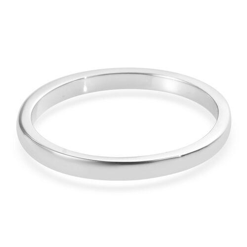 2mm Plain Wedding Band Ring in 9K White Gold 1.55 grams