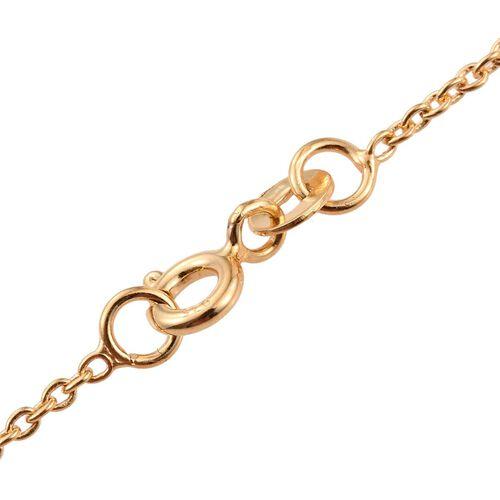J Francis - 14K Gold Overlay Sterling Silver (Rnd) Butterfly Necklace (Size 18) Made with SWAROVSKI ZIRCONIA
