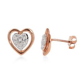 Diamond (0.25 Ct) 14K Rose Gold Earring  0.250  Ct.