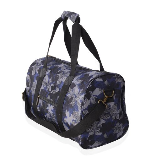 Limited Edition - Water Resistant Weekend Bag with Removable Shoulder Strap and External Zipper (Size 43x26x23.5 Cm)