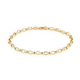 Hatton Garden Close Out 9K Yellow Gold Oval Belcher Bracelet (Size  7.5)