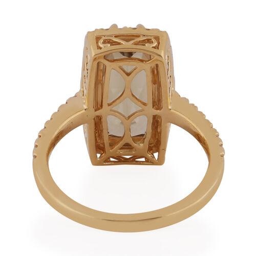 ILIANA 18K Yellow Gold Turkizite and Diamond Ring 2.01 Ct, Gold Wt. 4.17 Gms