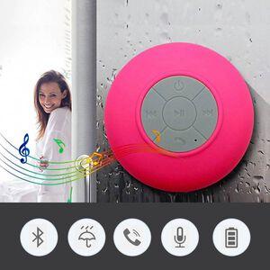 'Multi Use Rain / Splash Proof Wireless Bluetooth Stereo Speaker With Built-in Mic. - Pink