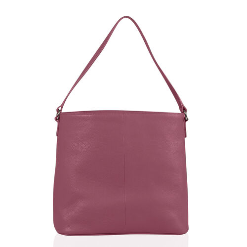 100% Genuine Leather Pink Colour Draw String Bag (Size 31x29x11 Cm)
