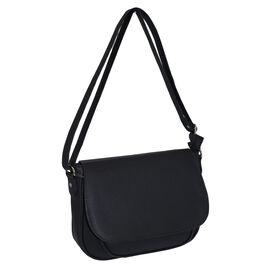 Designer Inspired- Black Colour Bag with Adjustable Strap