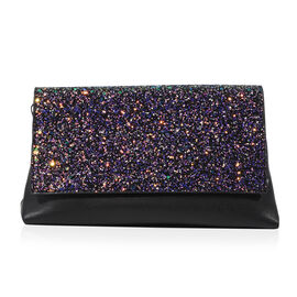 Bulaggi Collection - Joy Glitter Clutch Bag (Size 23x13x9 Cm) - Black