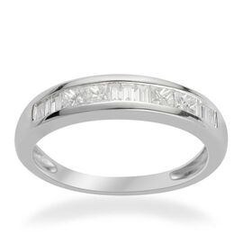 RHAPSODY 950 Platinum 0.50 Carat IGI Certified Diamond VS E-F Half Eternity Band Ring