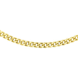 9K Yellow Gold Diamond Cut Adjustable Curb Chain (Size 16 with 2 inch Extender), Gold wt 1.30 Gms