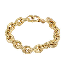 Vicenza Collection- 9K Yellow Gold Fancy Belcher Bracelet (Size 7.5), Gold wt 13.61 Gms