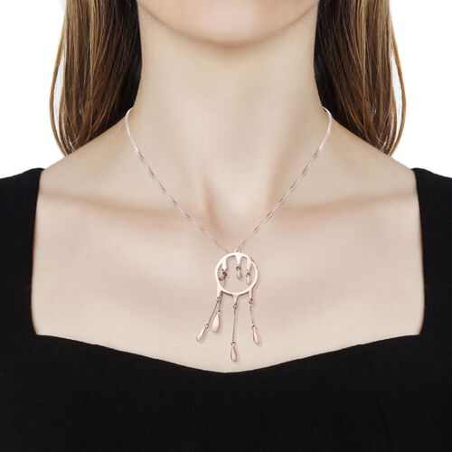 LucyQ Adjustable Drip Necklace (Size 30) in Rose Gold Overlay Sterling Silver