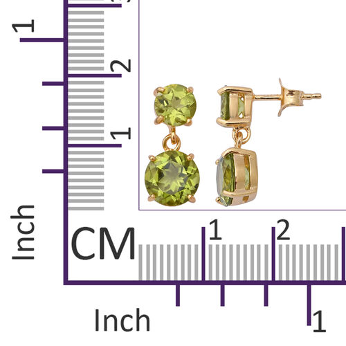 Chinese Peridot (5.44 Ct) Sterling Silver Earring  5.440  Ct.
