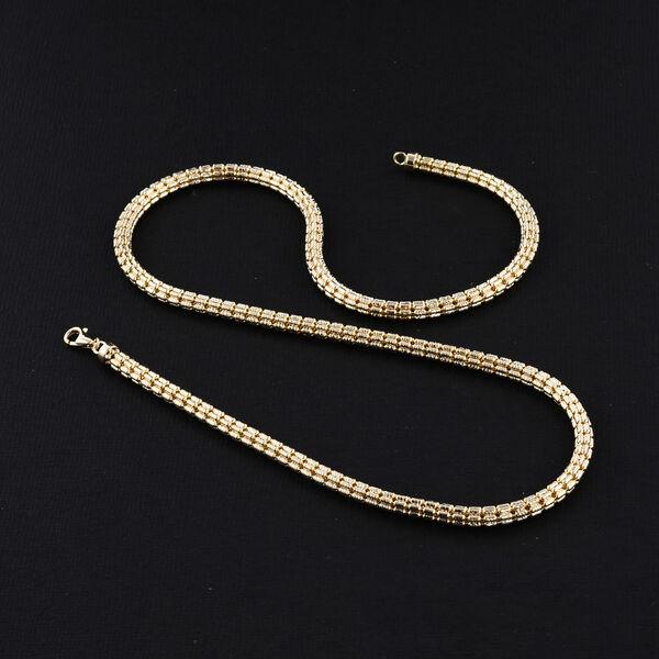 JCK Vegas Close Out Deal- 9K Yellow Gold Barrel Necklace (Size 20), Gold Wt. 21.86 Gms