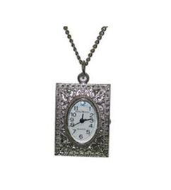 Phillip Mercier Necklace Watch with in Silver Tone - Filigree