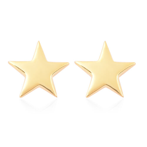 RACHEL GALLEY Yellow Gold Overlay Sterling Silver Star Stud Earrings (with Push Back)