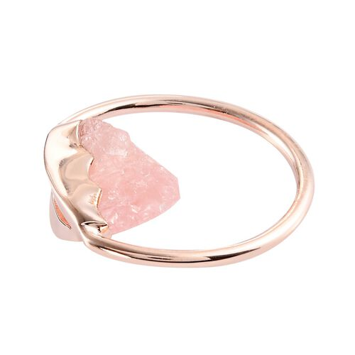 Morganite Circle Pendant with Chain (Size 20) in Rose Gold Overlay Sterling Silver 12.00 Ct, Silver wt. 5.00 Gms