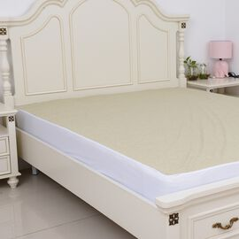 Copper Infused Bamboo Terry Waterproof Fitted Mattress Protector Double Size (135x190)