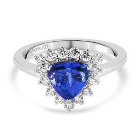 RHAPSODY 950 Platinum AAAA Tanzanite and Diamond (VS/E-F) Ring 2.13 Ct.