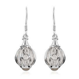 Sajen Silver Gem Healing Collection - Austrian Crystal Hook Earrings in Rhodium Overlay Sterling Sil