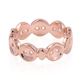 Lucy Q Rose Gold Overlay Sterling Silver Buttons Ring