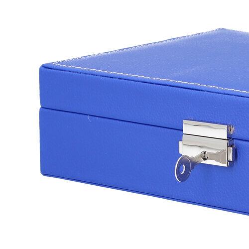 Multi Compartment Jewellery Box in Royal Blue (28x18.5x6.5cm)