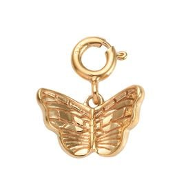14K Gold Overlay Sterling Silver Butterfly Charm