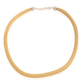 Vicenza Collection - 14K Gold Overlay Sterling Silver Mesh Necklace (Size 19 with 1 inch Extender), Silver wt 9.30 Gms.