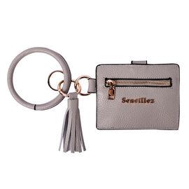 """""""Sencillez"""" Lilac color Genuine Leather Key Chain 11.5x9cm, card solt-2, zipped-1"""