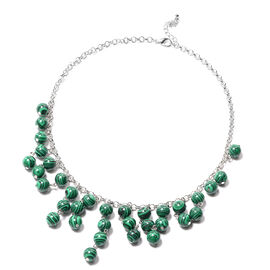 Malachite Necklace (Size 18 with 2 inch Extender) 216.50 Ct.