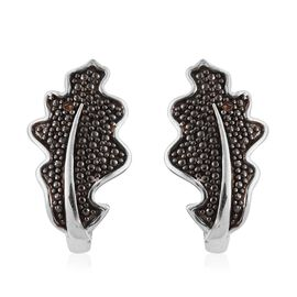 Diamond Platinum Overlay Sterling Silver Earring  0.010  Ct.