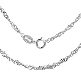 JCK Vegas Collection RHAPSODY 950 Platinum Twist Curb Chain (Size 18), Platinum wt. 3.00 Gms.