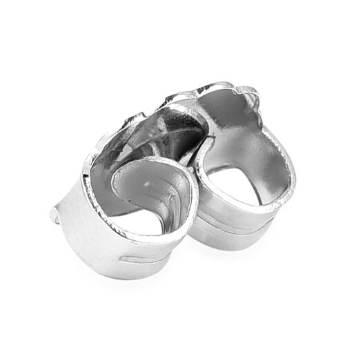 Set of 2 Pairs - Extra Large Ear Backs (9mm) in Rhodium Overlay Sterling Silver