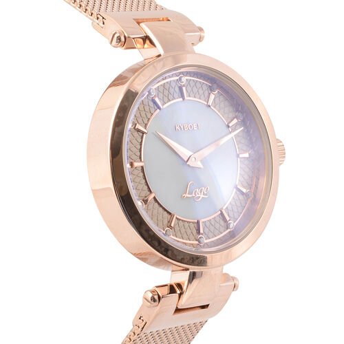 KYBOE Lago Rosa 12 Glowing Diamonds Studded LED Watch - Rose - 36mm dial